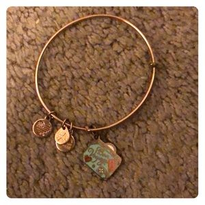 Rose gold letter Paris collection alex and ani
